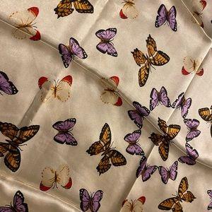 Silky butterfly scarf